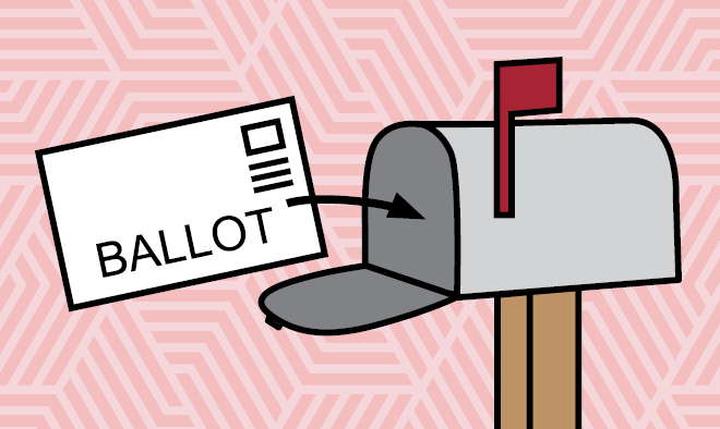 ballot going into mailbox