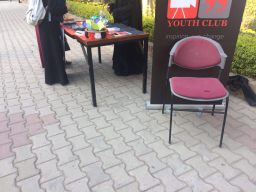 Sisters busy in giving dawah at FAST University