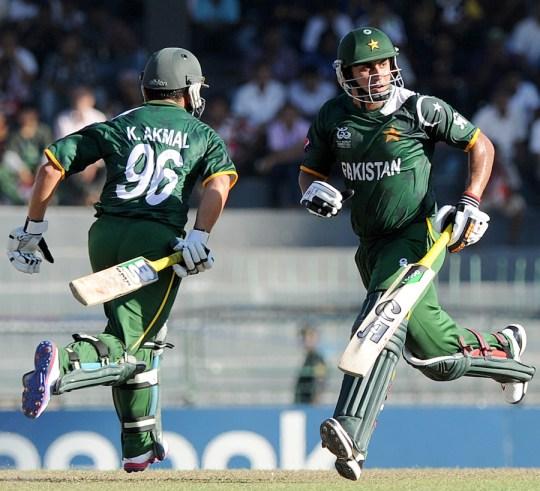 Kamran Akmal (L) and Nasir Jamshed (R) ICC Twenty20 2012