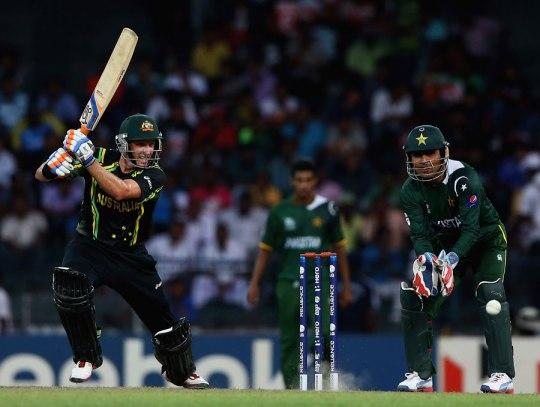 Michael Hussey (L) and Kamran Akmal (R) ICC Twenty20 2012