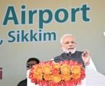 PM Modi dedicates airport in Sikkim, attacks past governments on northeast development