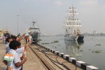 INS Tarangini returns after Vogage across the World