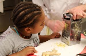 Learning how to grate ginger