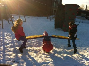 Youth Farmers at Jackson Elementary love to play in the snow!