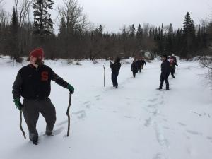 Caleb scouts the trail.