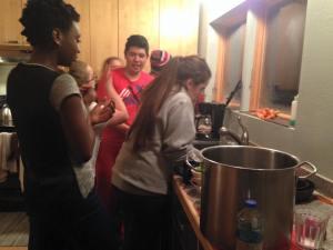 Iron Chef madness! Photo courtesy Zainab Youngmark