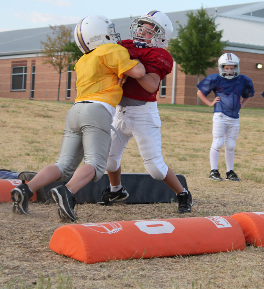 teach youth football blocking techniques