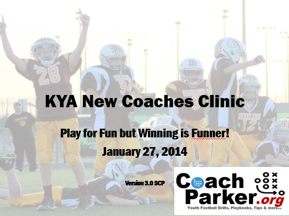 rookie youth football coaches training