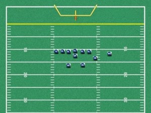 youth football split back offense