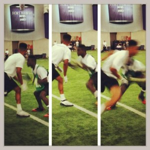 one on one football drill youth