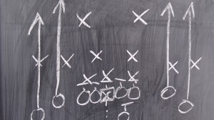 Youth Football Online gray chalk