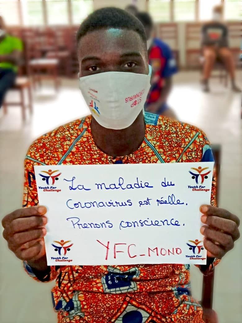 coronavirus in benign: 01 YFC volunteer raises awareness