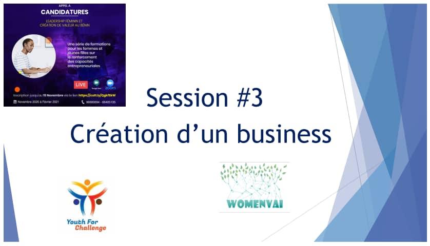 """troisième webinaire du projet """"Leadership Féminin et Création de Valeur au Bénin"""" ce jeudi 04 février 2021."""