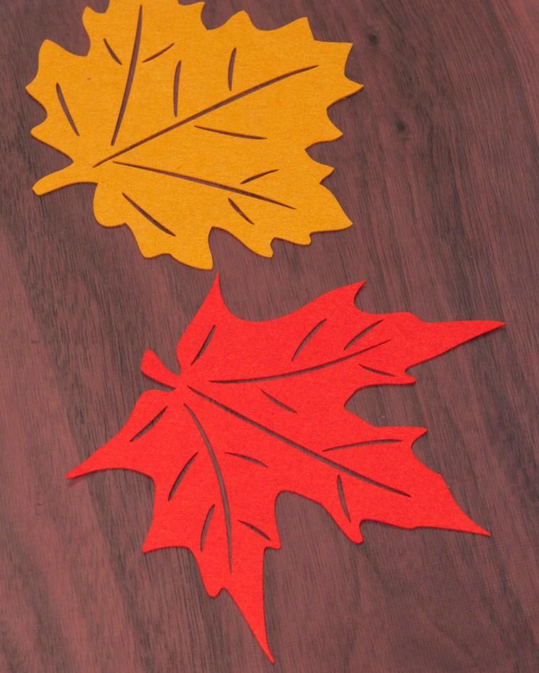 Felt leaves.