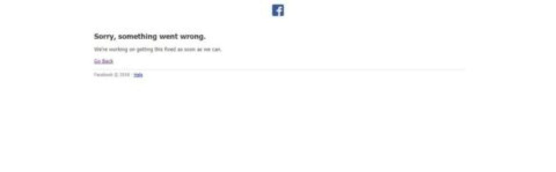 خلل فني في فيسبوك و انسغرام