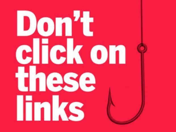 لا تضغط على روابط مشبوهة أو لا تعرفها - مصدر الصورة: Network World.com