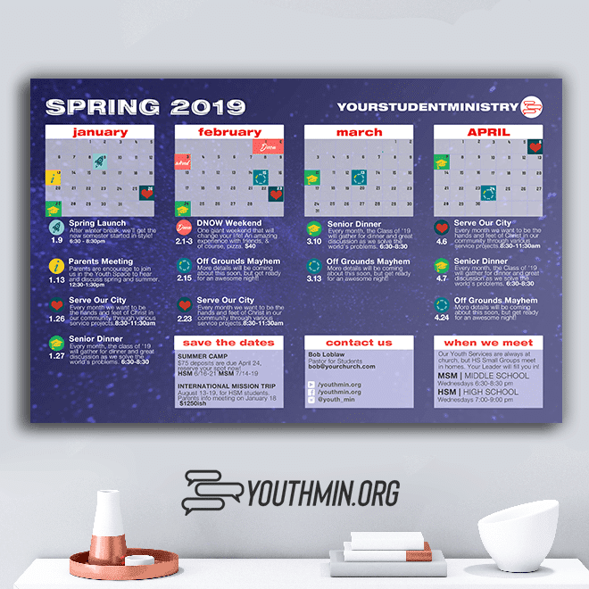 2019 Youth Ministry Calendar