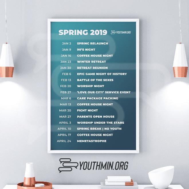 Spring 2019 Simple Calendar