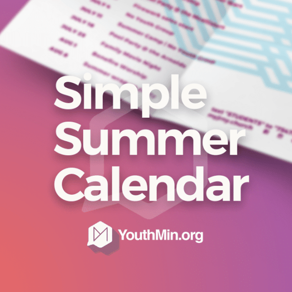 summer youth ministry calendar download