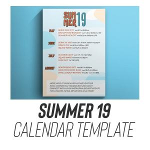youth group calendar template download