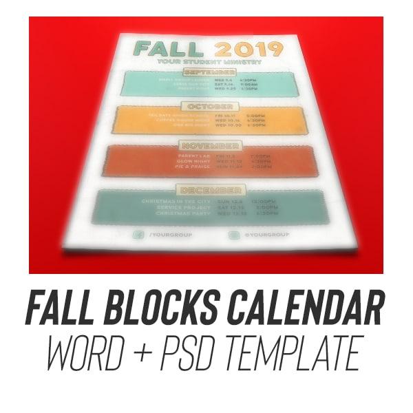 Youth Group Calendar Block Template