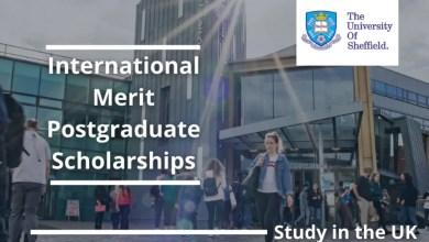Photo of THE UNIVERSITY OF SHEFFIELD (UK) INTERNATIONAL MERIT POSTGRADUATE SCHOLARSHIP 2021 (150 Scholarships Available)