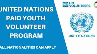 Photo of UNITED NATIONS VOLUNTEERS PROGRAMME FOR ALL NATIONALITIES