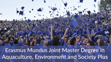 Photo of ERASMUS MUNDUS SCHOLARSHIP FOR A JOINT MASTER'S DEGREE IN AQUACULTURE, ENVIRONMENT AND SOCIETY
