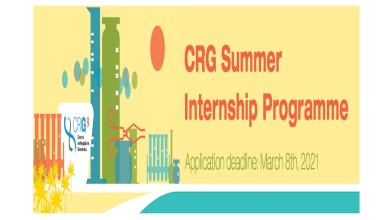 Photo of FULLY FUNDED CRG SUMMER INTERNSHIP IN SPAIN 2021