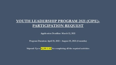 Photo of YOUTH LEADERSHIP PROGRAM 2021 (CIPE)-PARTICIPATION REQUEST