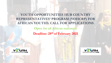 Photo of YOUTH OPPORTUNITIES HUB COUNTRY REPRESENTATIVES' PROGRAM (YOHCRP) FOR AFRICAN YOUTHS: CALL FOR APPLICATIONS