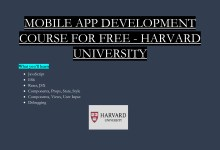 Photo of MOBILE APP DEVELOPMENT COURSE FOR FREE – HARVARD UNIVERSITY
