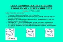 Photo of CERN ADMINISTRATIVE STUDENT PROGRAMME – INTERNSHIP 2021