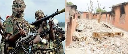 Boko Haram, destroyed houses