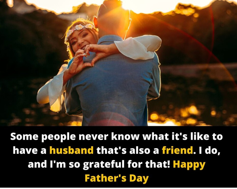 Happy fathers day messages from wife to husband