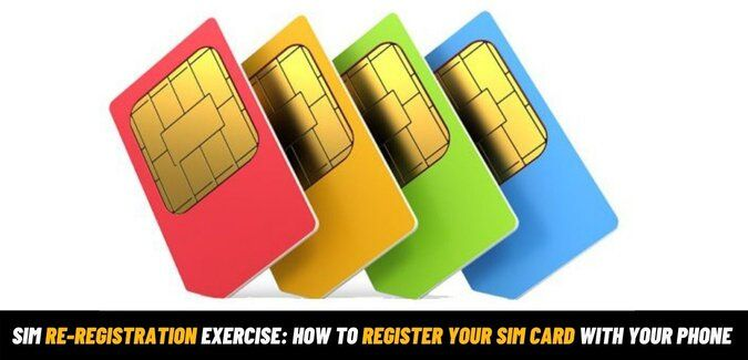 SIM Card Re-Registration