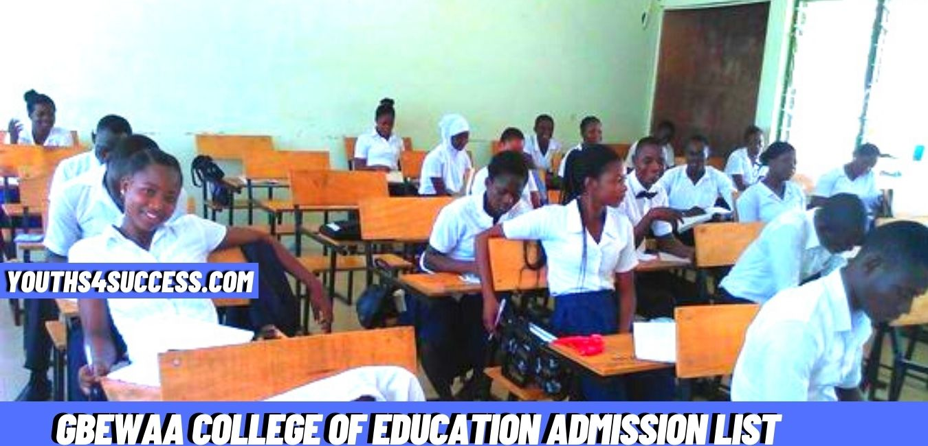 Gbewaa College Of Education Admission List