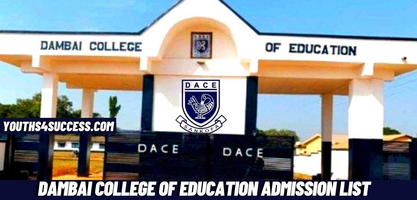 Dambai College Of Education Admission List