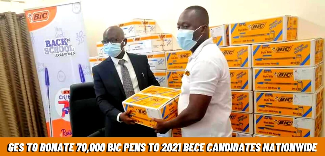 GES BECE Candidates pens