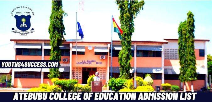 atebubu college of education admission list