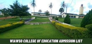 Wiawso College Of Education Admission List