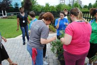 Youth from all three Nashville group homes visit the Healthways facility to learn about gardening, fitness and nutrition.