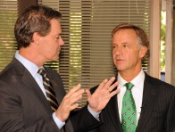 Youth Villages CEO Patrick W. Lawler (left) and Governor Bill Haslam