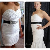 Custom Designed Gown with Tear-away Skirt : Fittings