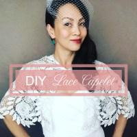 DIY Bridal Lace Capelet