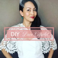 DIY Bridal Lace Capelet