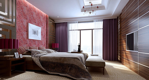 Bedroom Luxurious Decoration Interior Space 3D Model