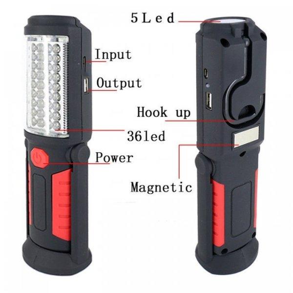 Lámpara trabajo LED magnética