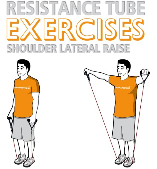 Resistance Tube Standing Shoulder Lateral Raise