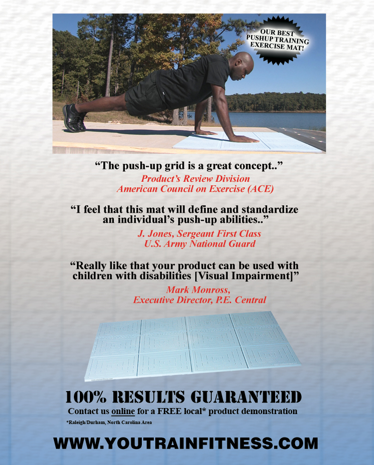 Pushup Training and Assessment Exercise Alignment Mat
